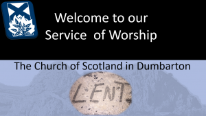 Welcome - Lent 2021